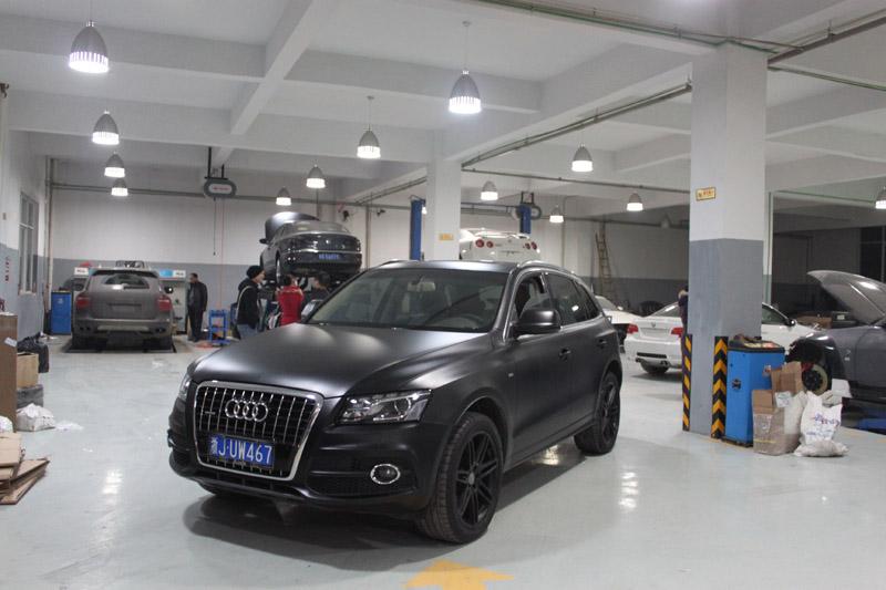 q5 亚光黑贴膜 视频专区 杭州车世界汽车改装工厂 高清图片