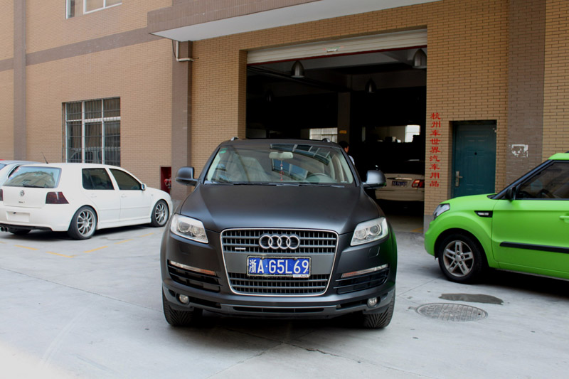 q7 亚光黑贴膜 视频专区 杭州车世界汽车改装工厂 高清图片