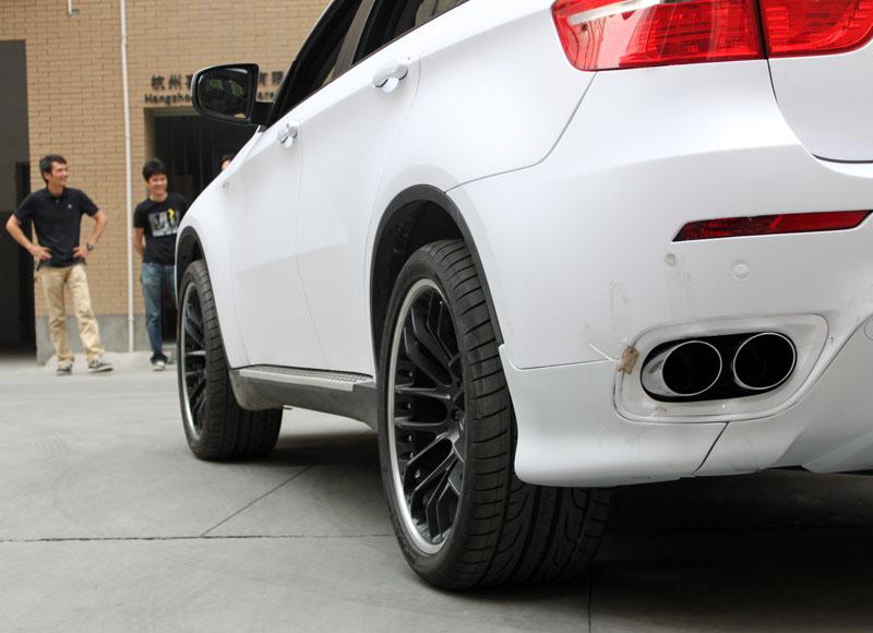 x6 亚光白 亚光黑 案例鉴赏 杭州车世界汽车改装工厂 高清图片