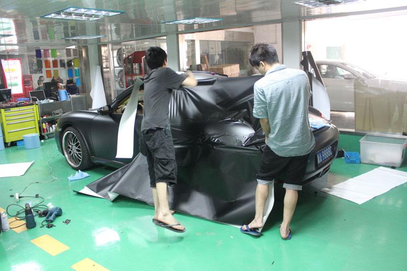 boxster 亚光黑 案例鉴赏 杭州车世界汽车改装工厂 高清图片